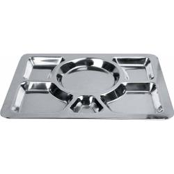 Winco - SMT-1 - 15 1/2 in x 11 1/2 in Stainless Steel Cafeteria Tray image