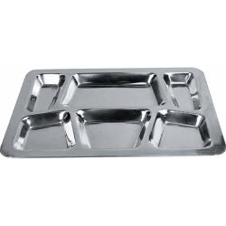 Winco - SMT-2 - 15 1/2 in x 11 1/2 in Stainless Steel Cafeteria Tray image