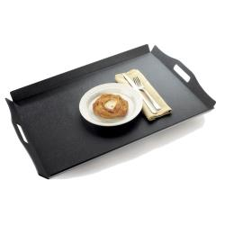 Cal-Mil - 930-3-13 - 26 in x 18 in Black Room Service Tray image
