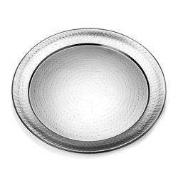 American Metalcraft - HMRST2001 - 20 in Round Hammered Stainless Steel Tray image