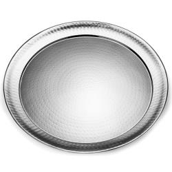 American Metalcraft - HMRST2201 - 22 in Round Hammered Stainless Steel Tray image