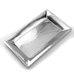 American Metalcraft - HMRT1322 - 22 in x 13 in Hammered Stainless Steel Tray image