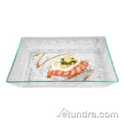 Cal-Mil - GL252-G - Diamond 11 in Square Green Tint Acrylic Platter image