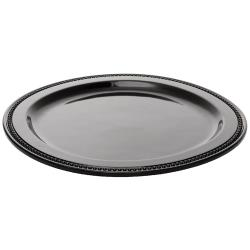 Espresso Supply - 06160-BL - 11 3/4 in Round Black Platter image