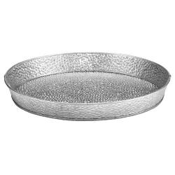 Tablecraft - GP10 - 10 1/2 in Round Glavanized Steel Dinner Platter image