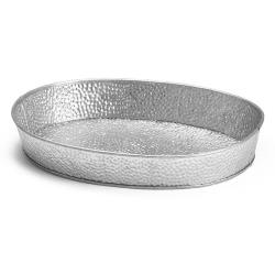 Tablecraft - GP129 - 12 in x 9 in Galvanized Steel Oval Dinner Platter image