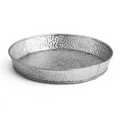 Tablecraft - GP8 - 8 1/2 in Galvanized Steel Round Dinner Platter image