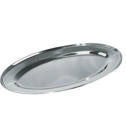Winco - OPL-20 - 20 in x 13 3/4 in Oval Stainless Steel Platter image