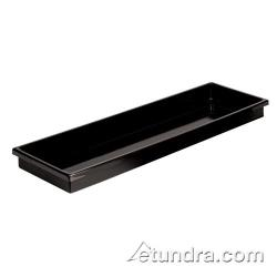 "World Cuisine - 42450-AA - 10 1/ 2"" x 20 7/8"" Black Polystyrene Tray image"