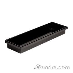 "World Cuisine - 42450-AB - 7 1/8"" x 20 7/8"" Black Polystyrene Tray image"