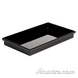 "World Cuisine - 42450-AC - 12 3/4"" x 20 7/8"" Black Polystyrene Tray image"