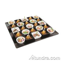 "World Cuisine - 44841B51 - 20 1/8"" Square Black Melamine Platter image"