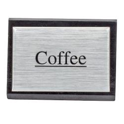 American Metalcraft - SIGNC3 - 3 in Coffee Triangular Sign image