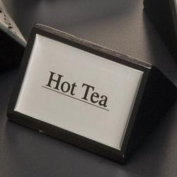 American Metalcraft - SIGNHT1 - 3 in Hot Tea Triangular Sign image