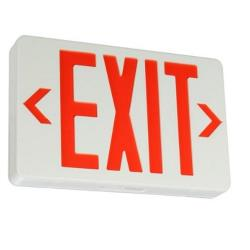 "Commercial - Lighted ""Exit"" Sign w/ Battery Backup image"