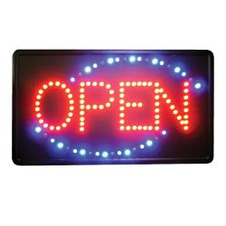 Winco - LED-6 - 21 in LED Open Sign image