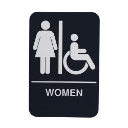 Commercial - 6 in x 9 in Women's Restroom Sign image