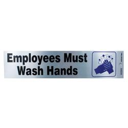 Commercial - Employee Must Wash Hands Sign image