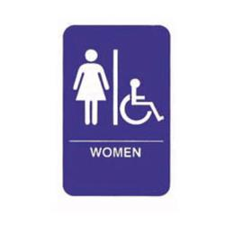 Tablecraft - 695630 - 6 in x 9 in Women's Restroom Sign image