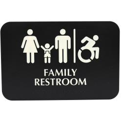 Tablecraft - 695651 - Family Restroom Sign image