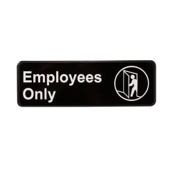 Vollrath - 4506 - 3 in x 9 in Employees Only Sign image