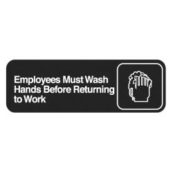 Vollrath - 4530 - 3 in x 9 in Employee Hand Wash Sign image