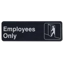 Winco - SGN-305 - 3 in x 9 in Employees Only Sign image