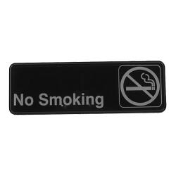 Winco - SGN-310 - 3 in x 9 in No Smoking Sign image