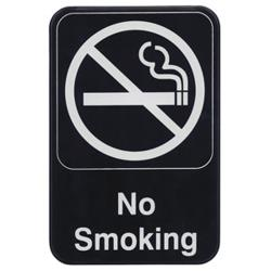 Winco - SGN-601 - 6 in x 9 in No Smoking Sign image