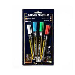 American Metalcraft - BLSMA100V4CO - Mini Blister Chalk Markers image