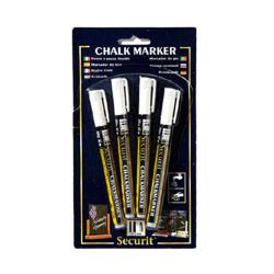 American Metalcraft - BLSMA100V4WH - White Mini Chalk Markers image