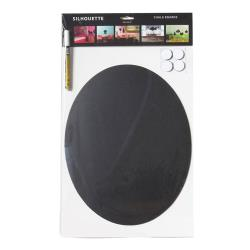 American Metalcraft - FBOVAL - Oval Shaped Silhouette Chalkboard image