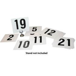 Winco - TBN-50 - Plastic Table Number Set -  1-50 image
