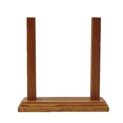 "Menu Solutions - WPFCT-B - 5"" x 7"" Wood Menu Holder image"