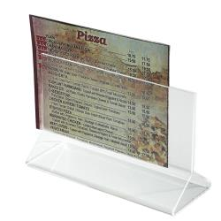 Winco - ATCH-53 - 5 1/2 in x 3 1/2 in Table Card Holder image