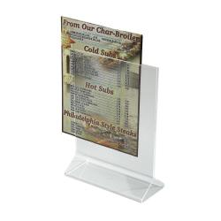 Winco - ATCH-57 - 5 in x 7 in Table Card Holder image