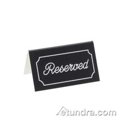Cal-Mil - 273-5 - White Two-Sided Engraved Reserved Message Tent image