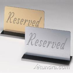 Cal-Mil - 956-10 - Silver Reserved Sign w/Black Base image