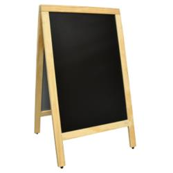 Omcan - 31398 - 33 1/2 in x 19 3/4 in Freestanding Menu Chalk Board image