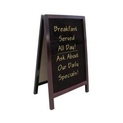 Update - ASIGN-2034 - 20 in x 34 in Dark Wood Sandwich Sign image