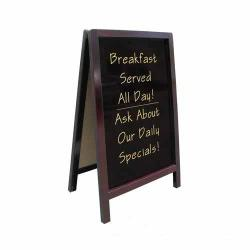 Update - ASIGN-2542 - 25 in x 42 in Dark Wood Sandwich Sign image