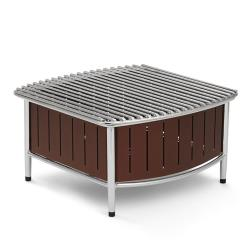 Vollrath - 4667470 - 16 in x 16 in Brown Buffet Station with Wire Grill image