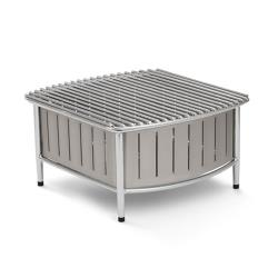 Vollrath - 4667480 - 16 in x 16 in Silver Buffet Station with Wire Grill image