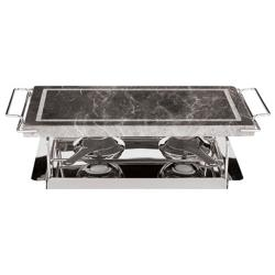 World Cuisine - 41315-04 - 7 1/2 in x 14 1/2 in Stone Grill Set image