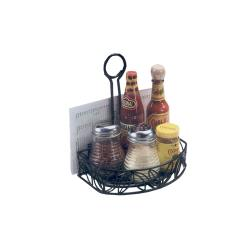 American Metalcraft - CRL86 - Ironworks™ Flat Back Leaf Wrought Iron Condiment Rack image