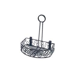 American Metalcraft - CRS68 - Ironworks™ Flat Back Scroll Wrought Iron Condiment Rack image