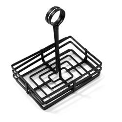 American Metalcraft - FWC68 - 8 in x 6 in Flat Coil Condiment Basket image
