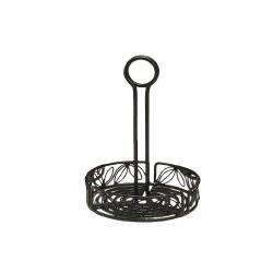 American Metalcraft - LDCC17 - Ironworks™ 7 1/2 in Leaf Wrought Iron Condiment Rack image