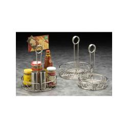 "American Metalcraft - SSCC6 - Ironworks™ 6 1/4"" Scroll Stainless Steel Condiment Rack image"