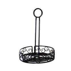"American Metalcraft - WBCC7 - Ironworks™ 7 1/2"" Scroll Wrought Iron Condiment Rack image"